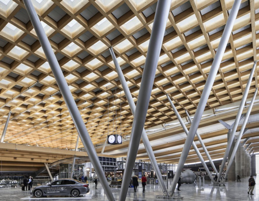 Oslo Airport by Nordic Office of Architecture, Oslo Airport expansion by Nordic Office of Architecture, sustainable airports, eco-friendly airport design, BREEAM airport, BREEAM Excellence in Oslo, snow as coolant, energy efficient airport terminal, world's greenest airport terminal, airport energy consumption