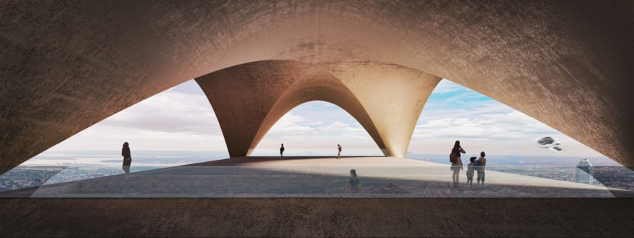 Drone Skystation, kayak architects, drones, New York, green transportation, 3d printing, 3d printed architecture, solar power, solar cells, Perovskite, green architecture, ecological footprint, low environmental footprint