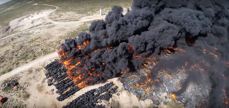Texas, Odessa, tire, tires, tire fire, tire fires, fire, fires, environment, pollution, air pollution, smoke, black smoke, pollutants, toxic pollutants, toxic pollution, EPA, Environmental Protection Agency
