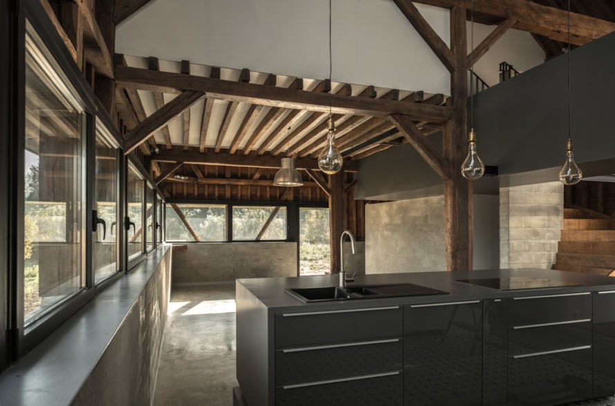 The Barn by Antonin Ziegler, adaptive reuse barns in France, adaptive reuse barn into home, barn transformed into house, contemporary barn homes, zinc-clad homes, zinc-clad barns