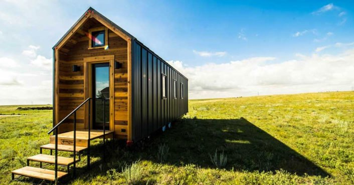 This tiny farm house on wheels starts at 63K