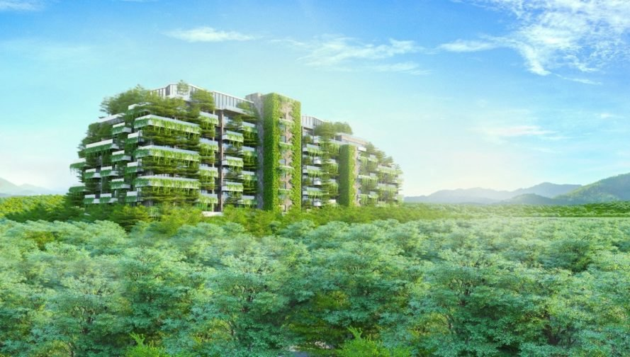 Forest in the Sky, Vietnam green residences, vertical walls, green design, green residencial towers, eco friendly homes, green living, garden walls, rooftop garden, vietnam residences, vietnamese architecture, energy efficient design, efficient lighting, green building materials, eco living, green apartments, sutainable building, green homes, eco friendly design,