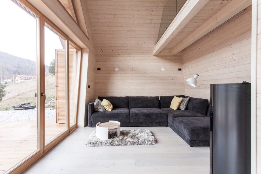 Wooden House by studio PIKAPLUS, wooden home, compact timber cabin, tiny beautiful architecture, beautiful cabin design, tiny timber cabin, Slovenian cabins, contemporary cabin design,