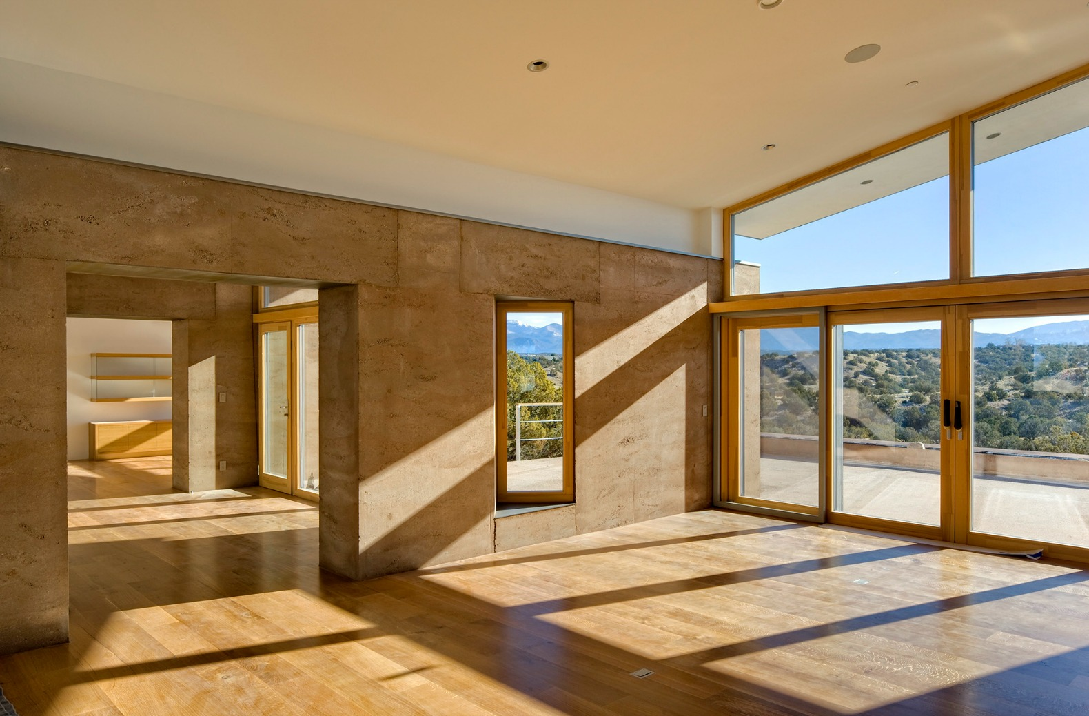 Striking Rammed Earth Home Blends Into The Hills Of Santa