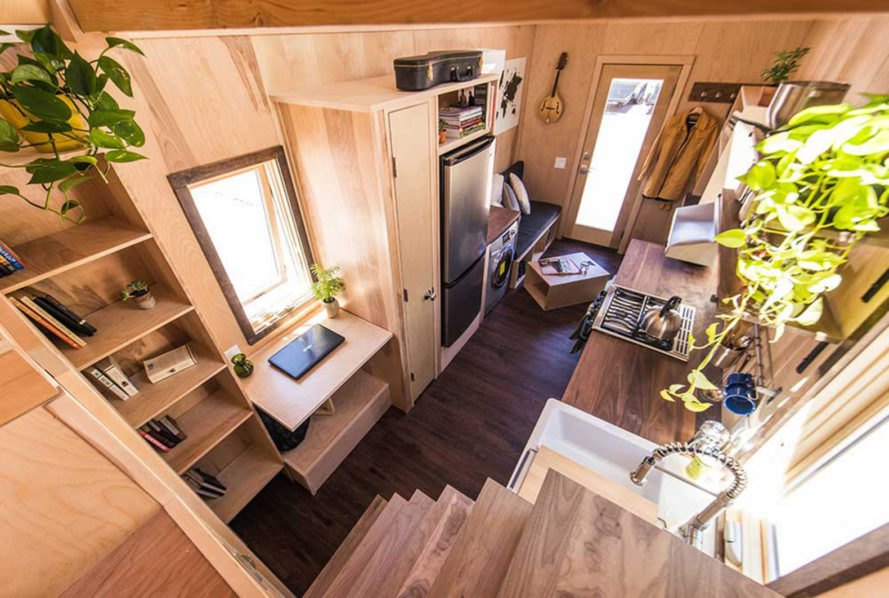 tiny home, tumbleweed, tumbleweed tiny house company, rv, recreational vehicle, tiny houses, farmhouse, hardwood, low-impact living, home on wheels, floorplans, multiple floorplans, loft, loft bed, home office