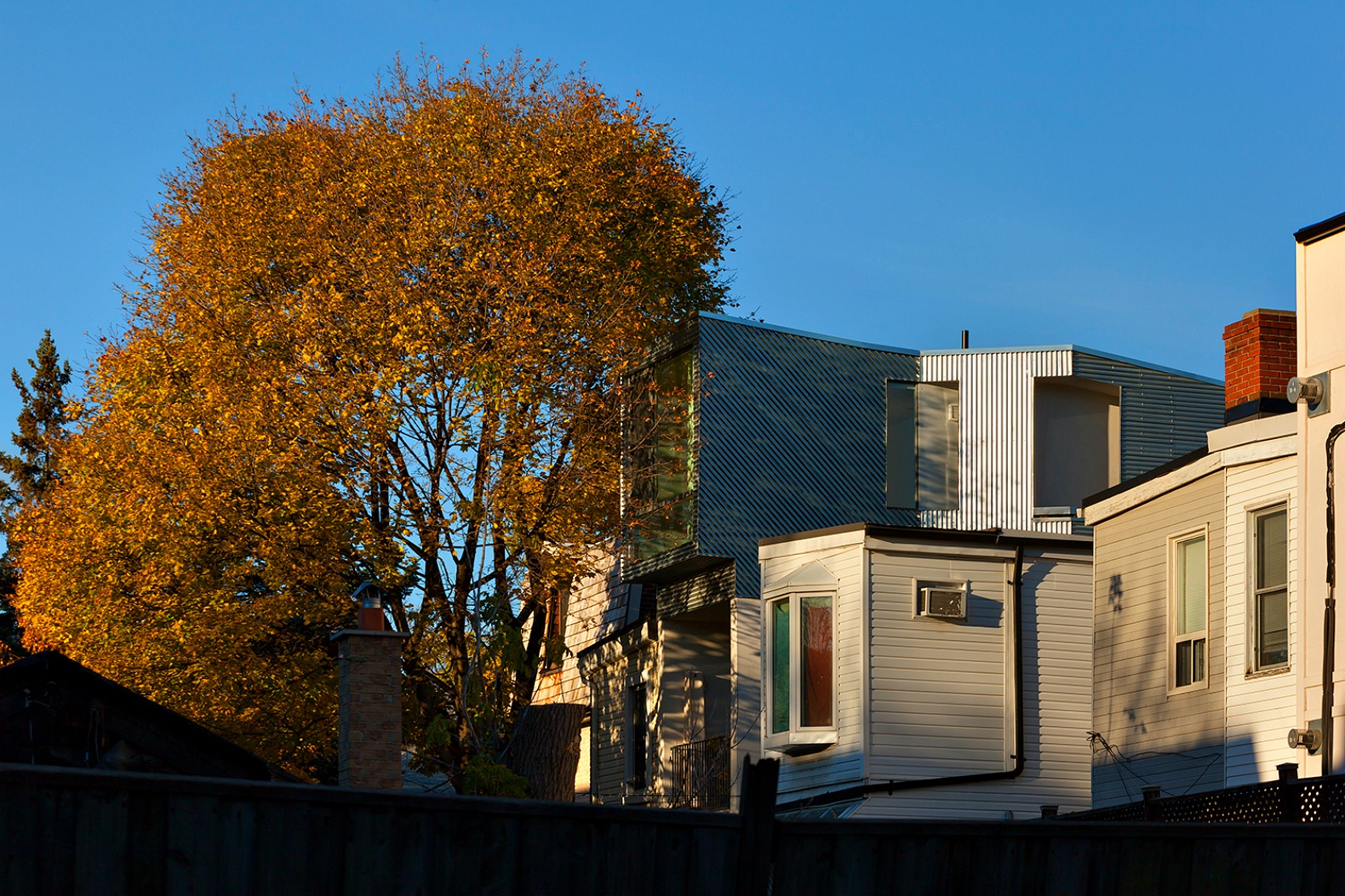 modern aluminum addition blends seamlessly in with 19th century