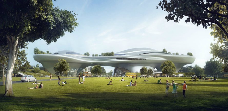 Lucas Museum of Narrative Art, george lucas, george lucas museum, MAD architects, Ma Yansong Lucas Museum, art museums, lucas art museum, film museums, modern art musuems, museum design, star wars exhibitions, los angeles museums, green space, green roof, futuristic architecture, public parks la, la museumssuems, museum design, star wars exhibitions, los angeles museums, green space, green roof, futuristic architecture,