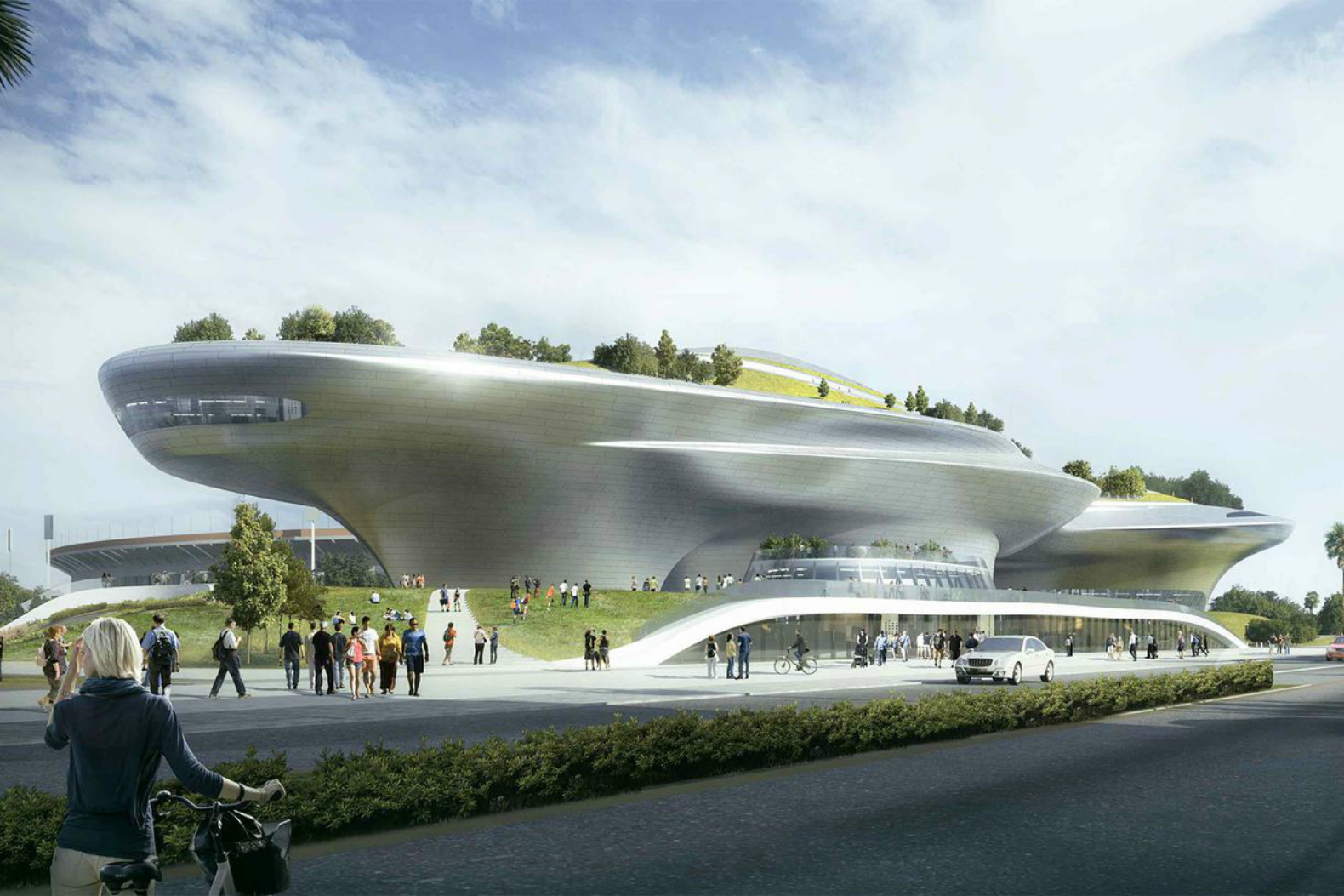 The Lucas Museum of Narrative Art will bring a massive 11-acre green roof  to Los Angeles