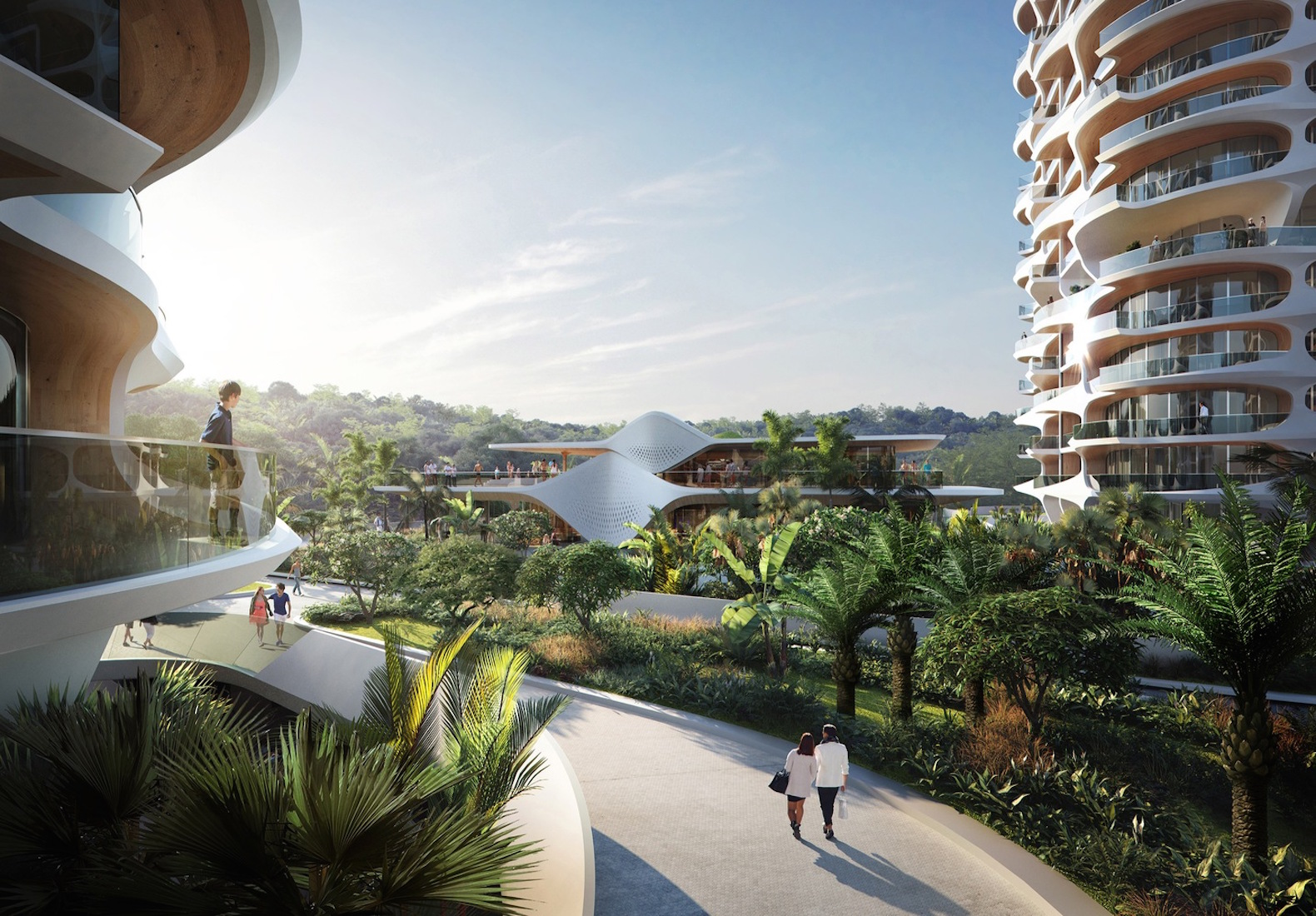 Residential development inhabitat green design innovation zaha hadid architects designs ecological residential complex for mexicos riviera maya sciox Images