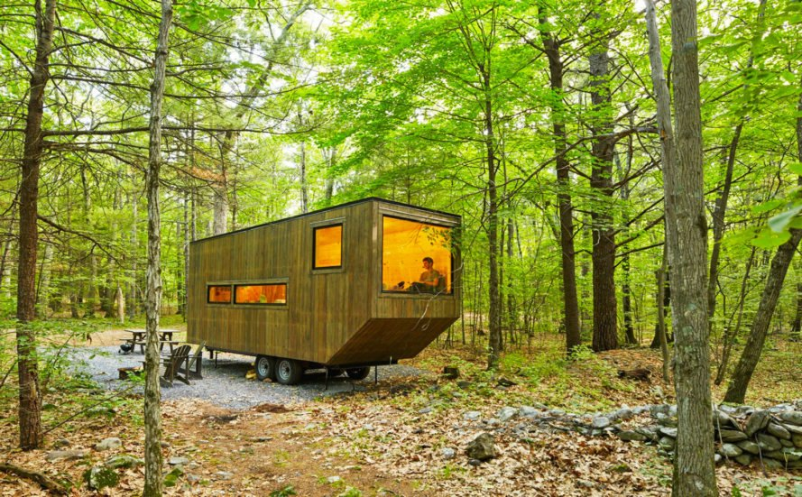 Getaway, getaway cabins, Getaway at Gateway, tiny house startups, tiny house design, Gateway National Recreation Area, nyc gateway park, national parks, tiny home exhibition nyc, nyc tiny homes, off grid cabins, cabin designs