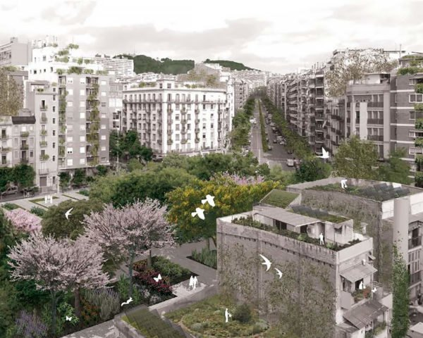Barcelona, Spain, Plan Verde, Plan of the Green and Biodiversity Barcelona 2020, green space, green spaces, green city, plants, plant, garden, gardens, creepers, vines, green roof, green roofs, urban design