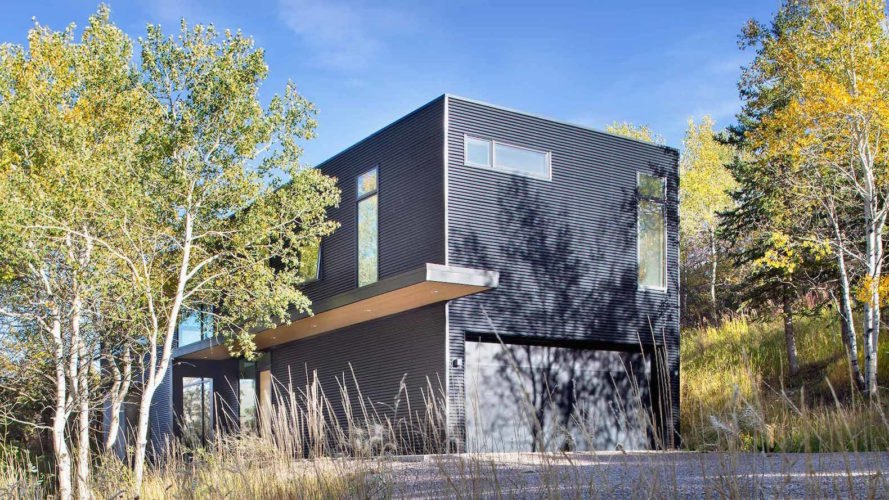 Black Magic by Rowland + Broughton, Black Magic home in Colorado, Black Magic Snowmass, contemporary mountain home, modern custom mountain home, minimal site disturbance house design