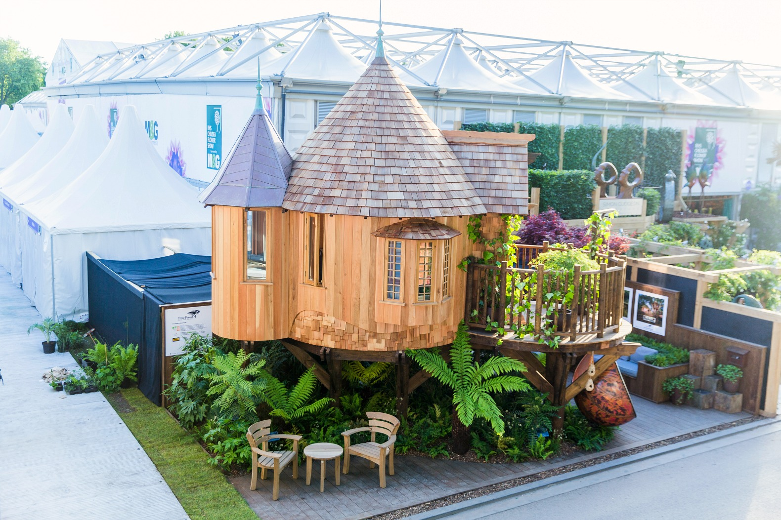 Magical Blue Forest Treehouse Is A Fairytale Castle For