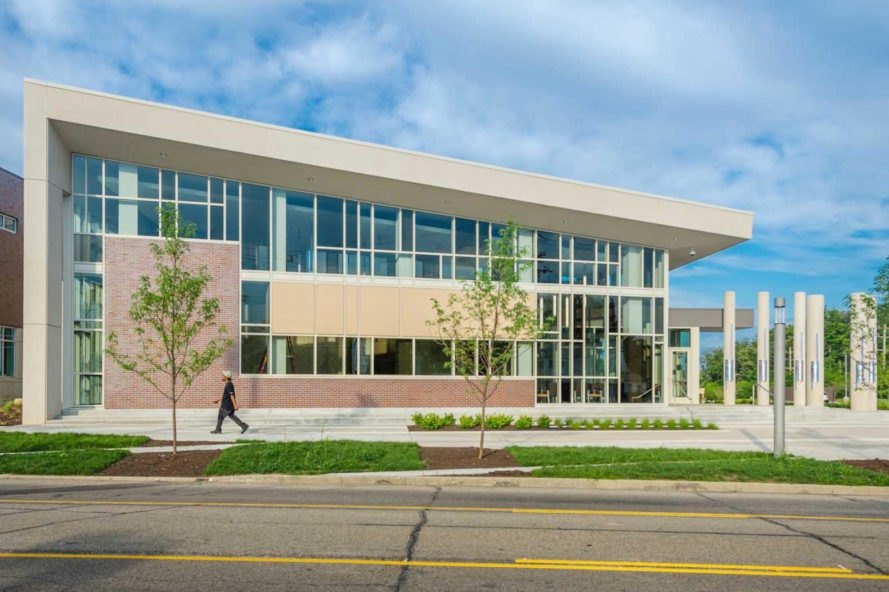 LEED Platinum police station, net zero police station, Cincinnati District 3 Police Station Headquarters, Cincinnati District 3 Police Station Headquarters by emersion DESIGN, energy efficient civic buildings, public art and police stations, energy efficient police station, solar powered police station