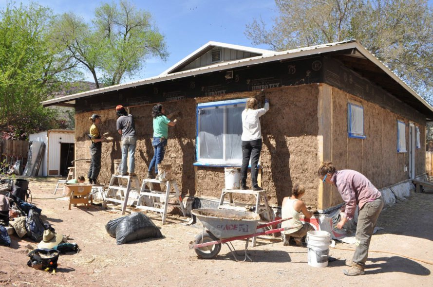 green building, clay homes, straw homes, soil homes, sustainable building, greywater, solar power, solar powered homes, Community Rebuilds, Community Rebuilds Moab, adobe flooring, earthen plasters, passive house, passive homes, solar passive homes