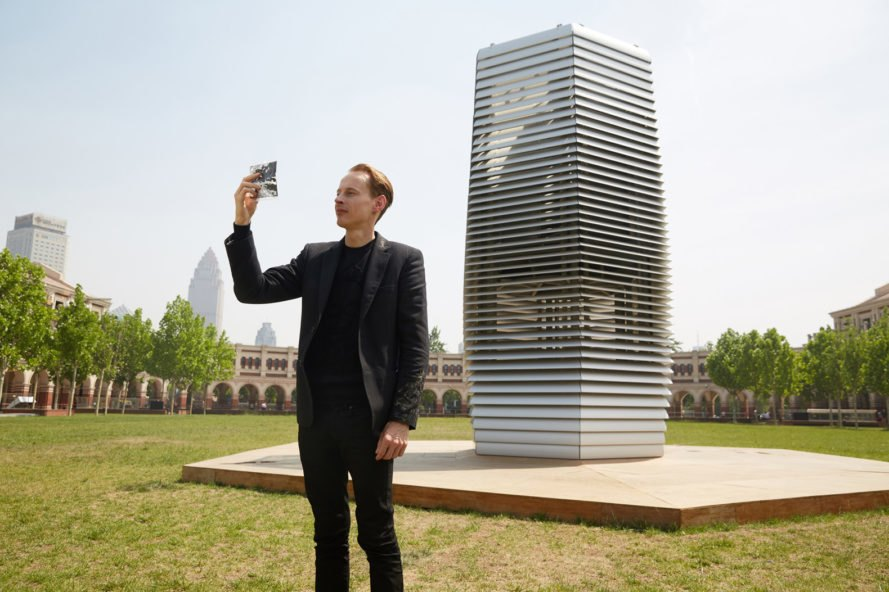 Daan Roosegaarde, Studio Roosegaarde, Roosegaarde, China, Tianjin, Beijing, smog, Smog Free Project, Smog Free Tower, Smog Free Rings, pollution, air pollution, air quality, design, art, art installation, clean, clean air, air