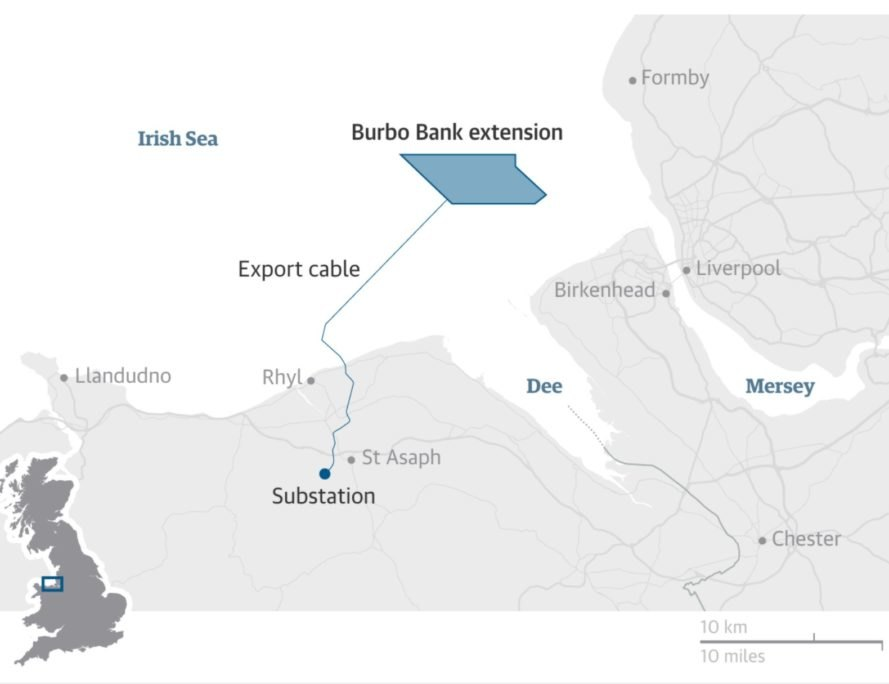 Dong Energy UK, Burbo Bank extension, wind farm, clean energy, sustainability, wind turbine,