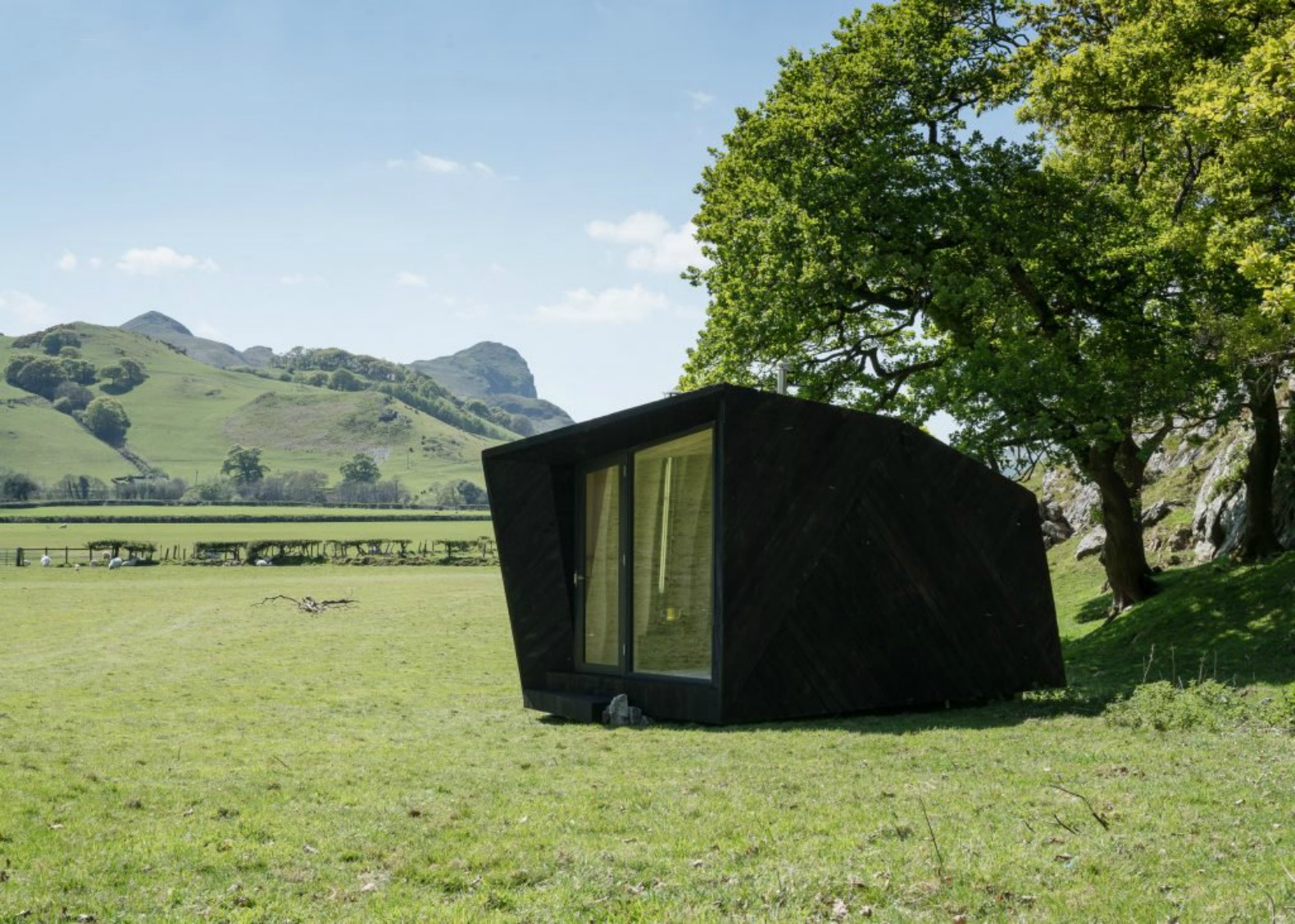 Pop Up Cabins : Tiny folklore inspired cabins pop up in the welsh
