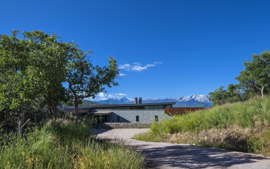 Gambel Oaks Ranch by CCY Architects, Gambel Oaks Ranch in Colorado, LEED Gold Colorado home, LEED Gold housing, ground source heat pump for homes, energy saving Colorado home, green homes in Colorado