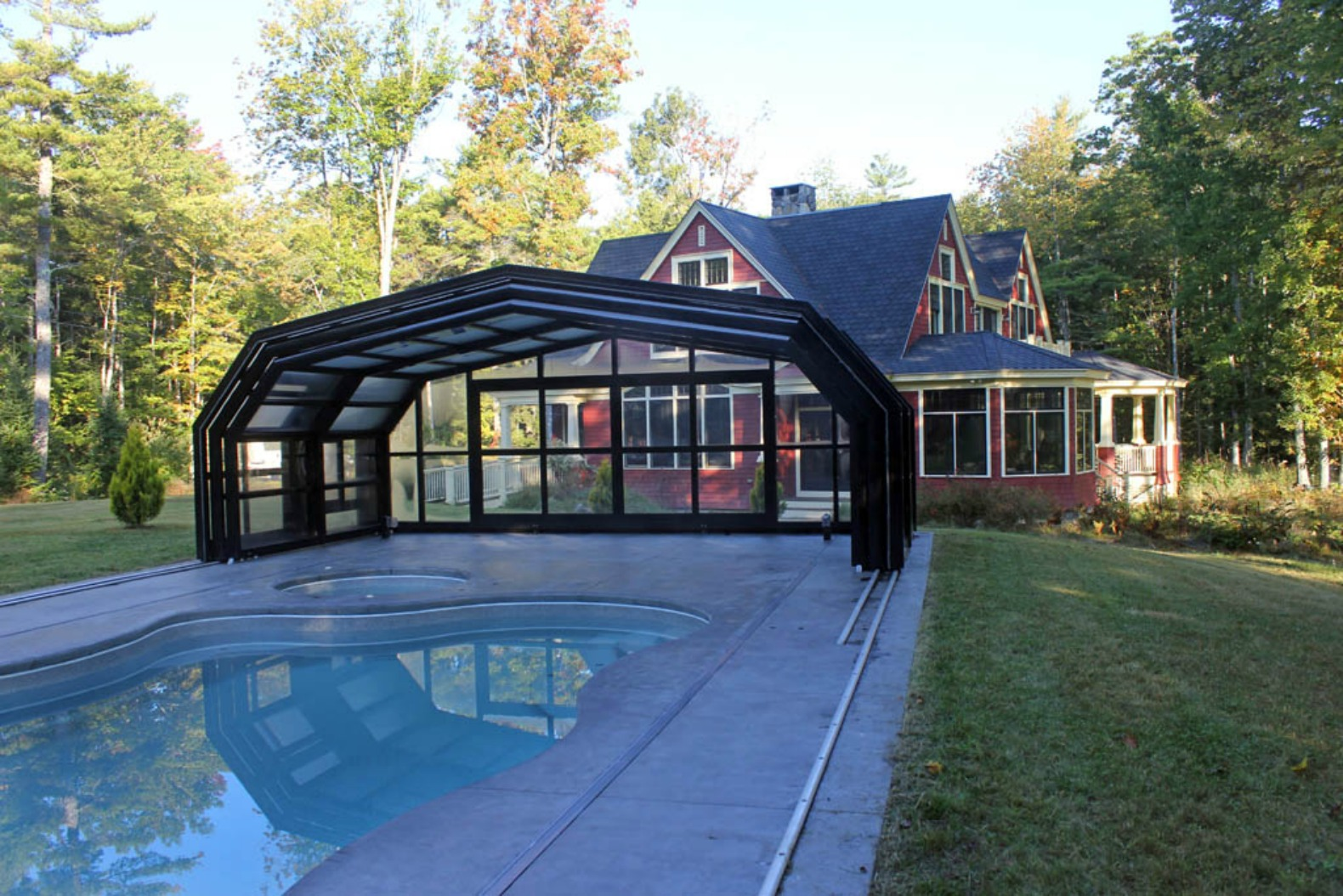Libart, Libart Retractable Pool Cover, Sliding Buildings, Evolution  Freestanding, Libart Retractable Structures