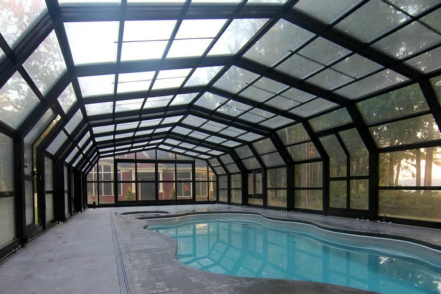 This Amazing Retractable Roof Shelters A Pool In Maine For