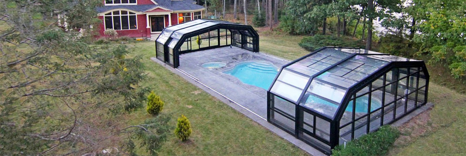 Merveilleux This Amazing Retractable Roof Shelters A Pool In Maine For Year Round Fun