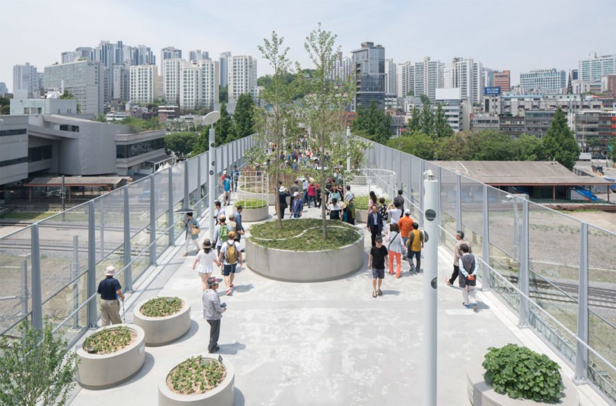 MVRDV, Skygarden, Seoullo 7017, MVRDV Skygarden, elevated garden, elevated walkway, green space, Seoul green space, urban green space, urban garden, urban park, elevated park