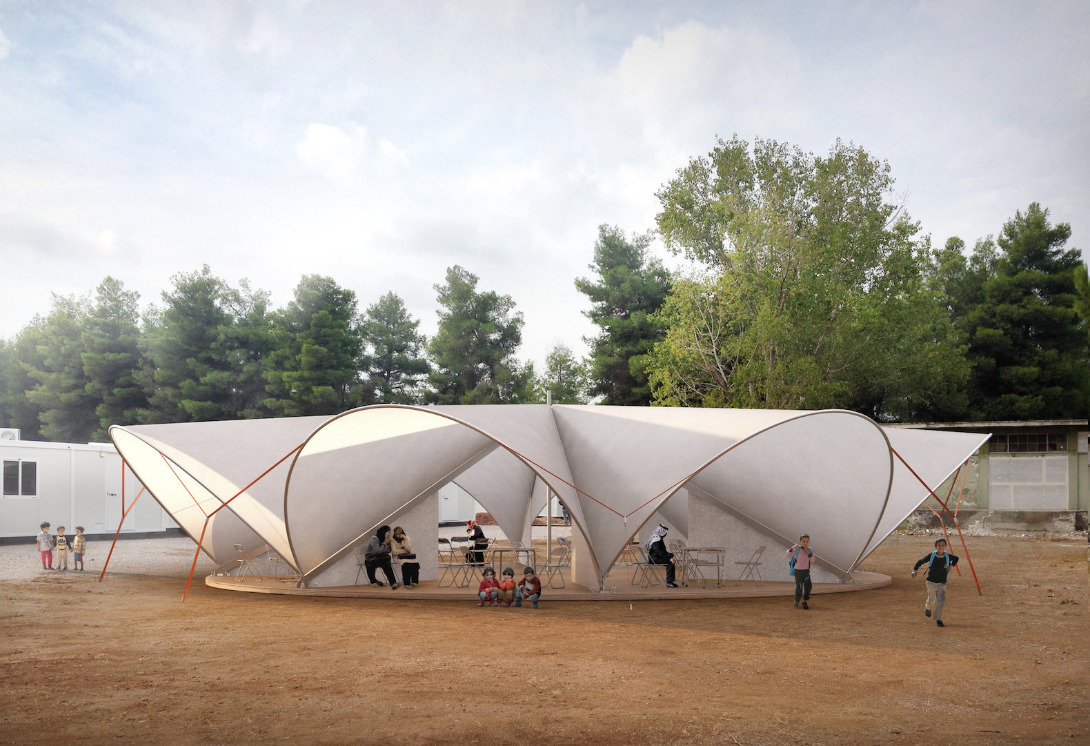 Maidan Tent aims to improve life in refugee c&s with pop-up public space & TENT | Inhabitat - Green Design Innovation Architecture Green ...