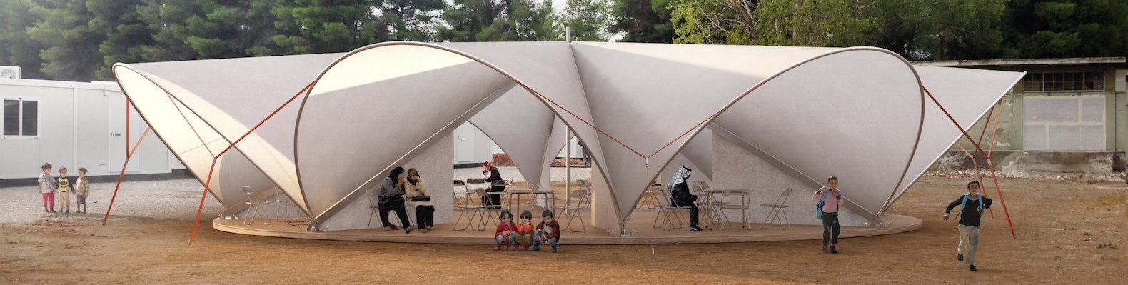 Maidan Tent aims to improve life in refugee c&s with pop-up public space | Inhabitat - Green Design Innovation Architecture Green Building & Maidan Tent aims to improve life in refugee camps with pop-up ...