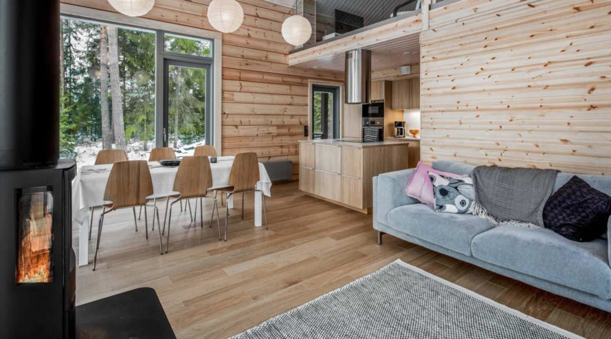 Log Villa, Pluspuu Oy, log cabin, Finland, geothermal power, airtight envelope, panoramic views, green architecture, timber structure, timber building