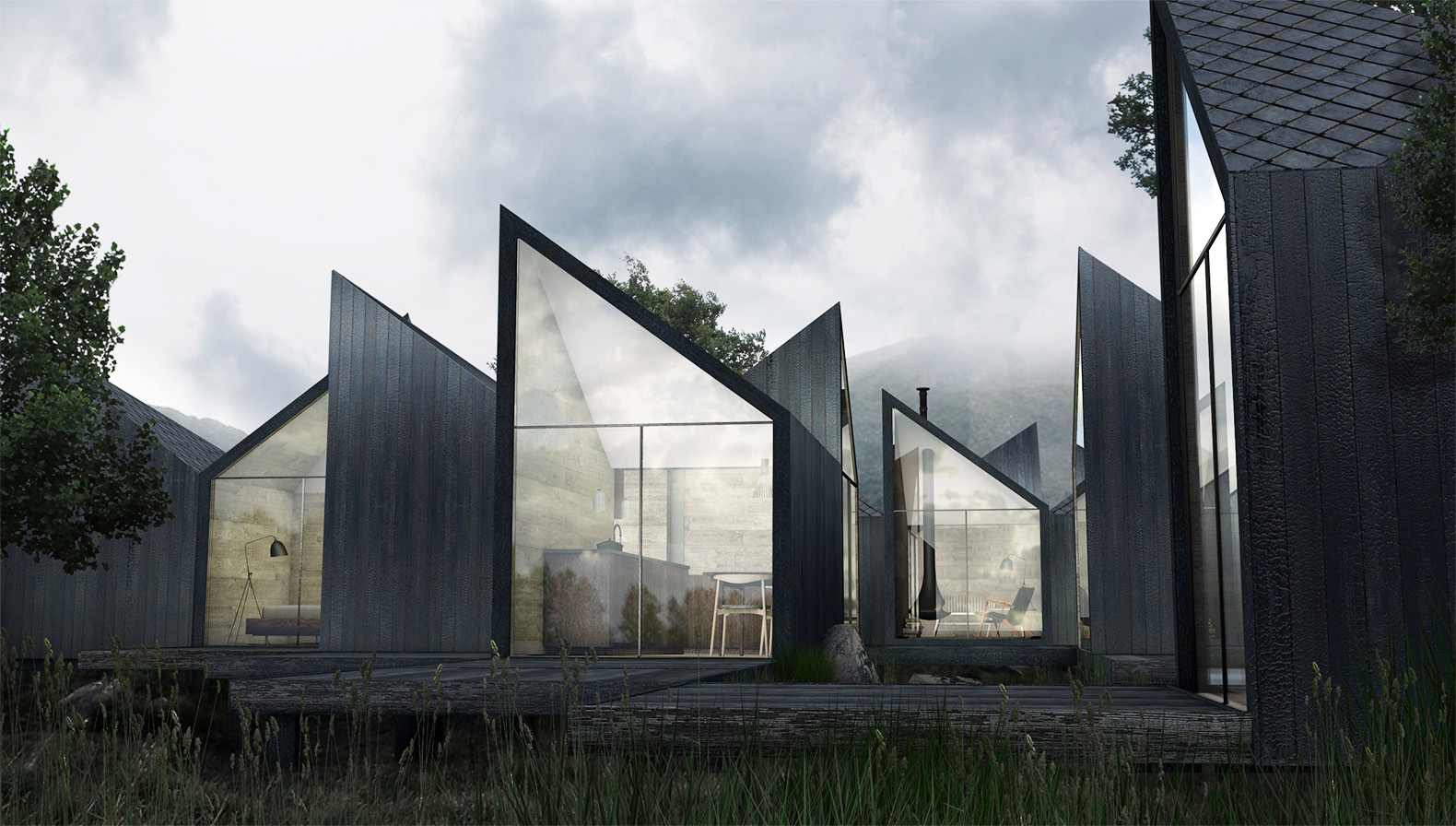 This Charred Wood Moduu Cabin Can Be Rearranged In An