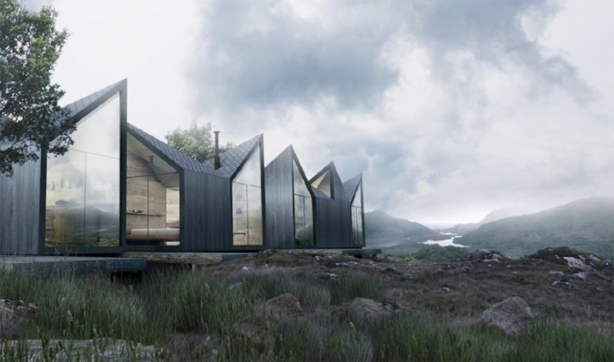 Moduu House, Antony Gibbon Designs, prefab housing, charred wood, timber cladding, modular design, green architecture, floor-to-ceiling windows