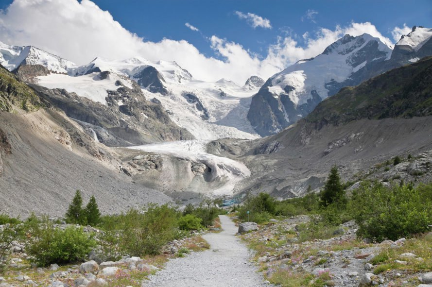 Morteratsch Glacier, Morteratsch, glacier, glaciers, Switzerland, Johannes Oerlemans, Utrecht University, climate change, global warming, environment, snow, ice, artificial, artificial snow