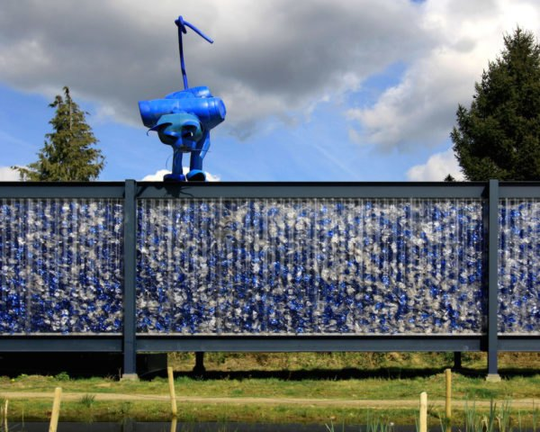 PET Pavilion by Project.DWG and LOOS.FM, PET pavilion in Enschede, PET Pavilion, temporary pavilion made from plastic, plastic pavilion, recycling pavilion, pavilion plastic bottles, plastic bottle architecture, adaptive reuse in Enschede,