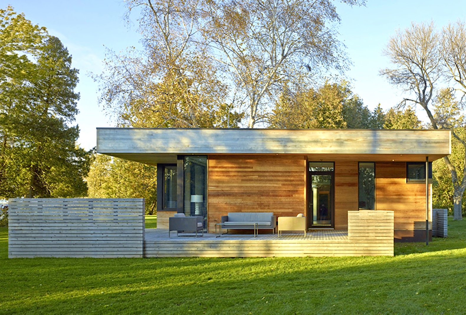 Prefabricated lakeside cabin is a beautiful exercise in restraint