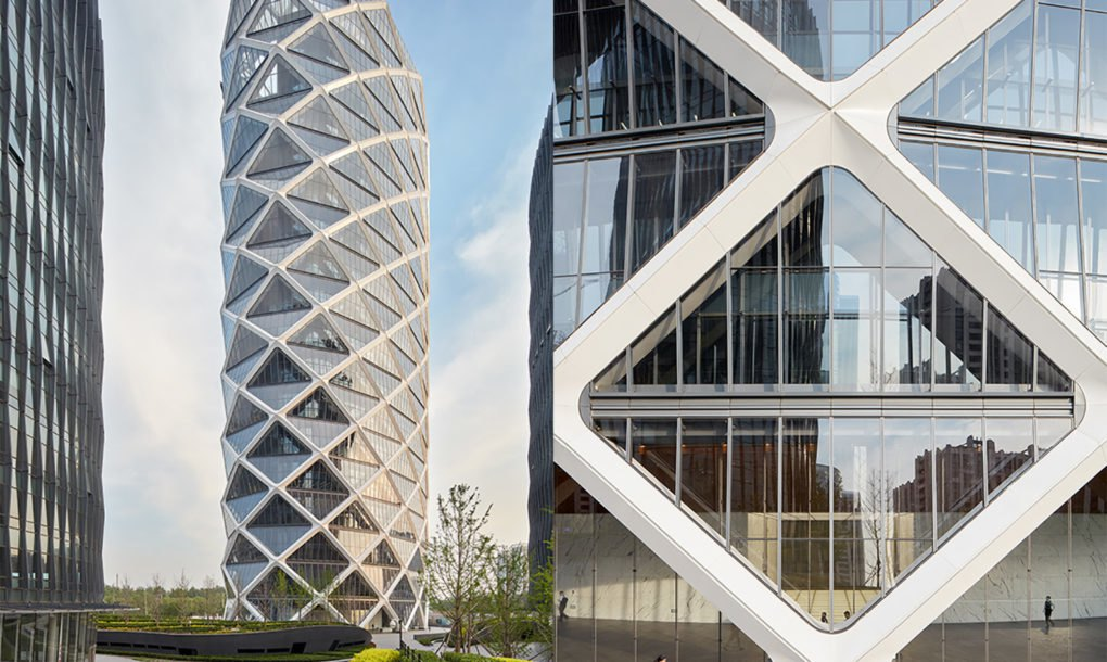 Som S Diagrid Glass Tower Rises Like A Chinese Paper