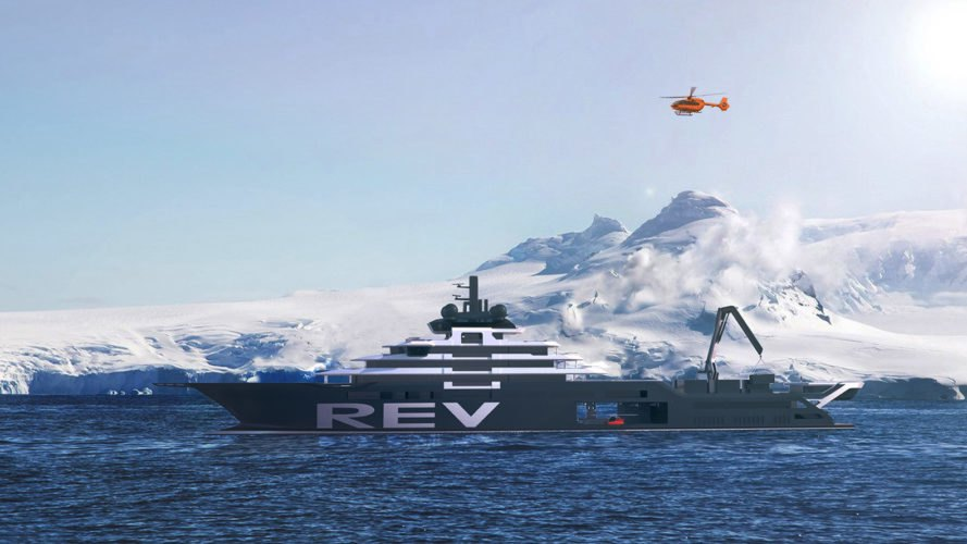 Research Expedition Vessel, Rosellinis Four-10, Kjell Inge Røkke, VARD, Espen Oeino, WWF Norway, marine research, research, marine, ocean, vessel, boat, ship, yacht, superyacht, climate change, plastic pollution, ocean plastic, environment