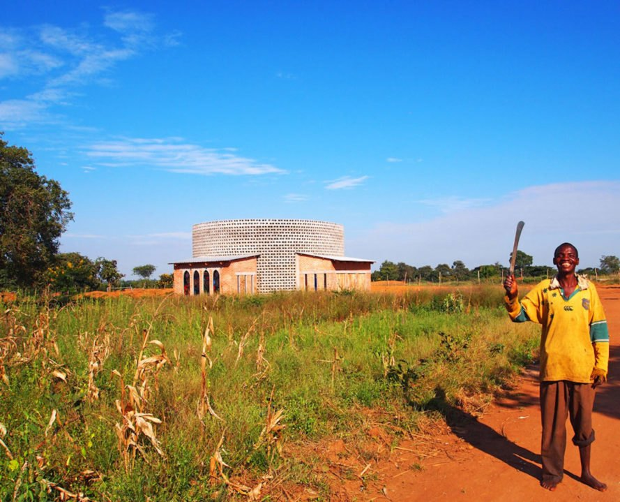 Rural Church by Architecture for a Change, Chimphamba architecture, Chimphamba Malawi, Chimphamba church, Malawi church, low cost church design, brick church architecture, naturally cooled African architecture op
