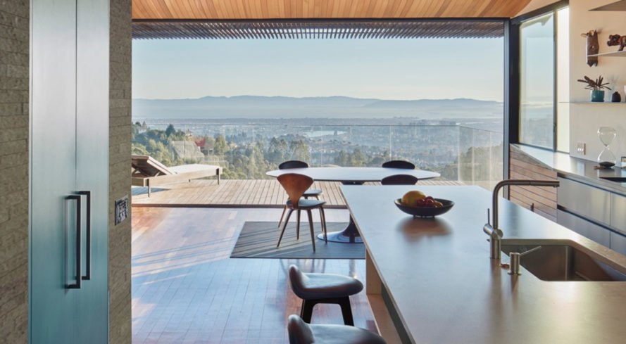Skyline House, Terry & Terry Architecture, Oakland, San Francisco, wooden structure, natural ventilation, green architecture, panoramic views, open-plan layout