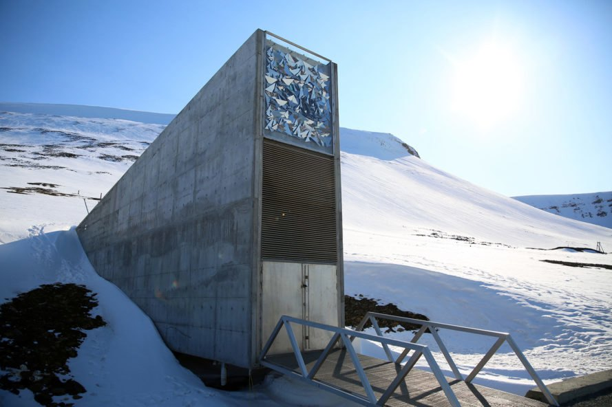 Svalbard Global Seed Vault, The Crop Trust, Arctic Circle, Norway, global seed vault, seed vault, seed, seeds, food, food security, climate change, global warming, permafrost, permafrost melting, melting permafrost, meltwater, flood, flooding, flooded, vault, security, crops