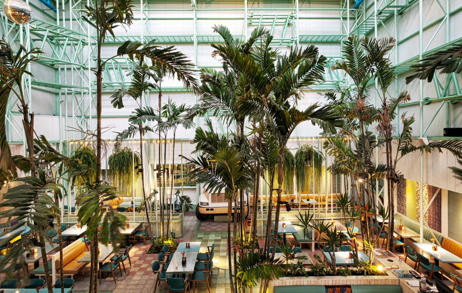 This incredible urban oasis cafe is filled with living