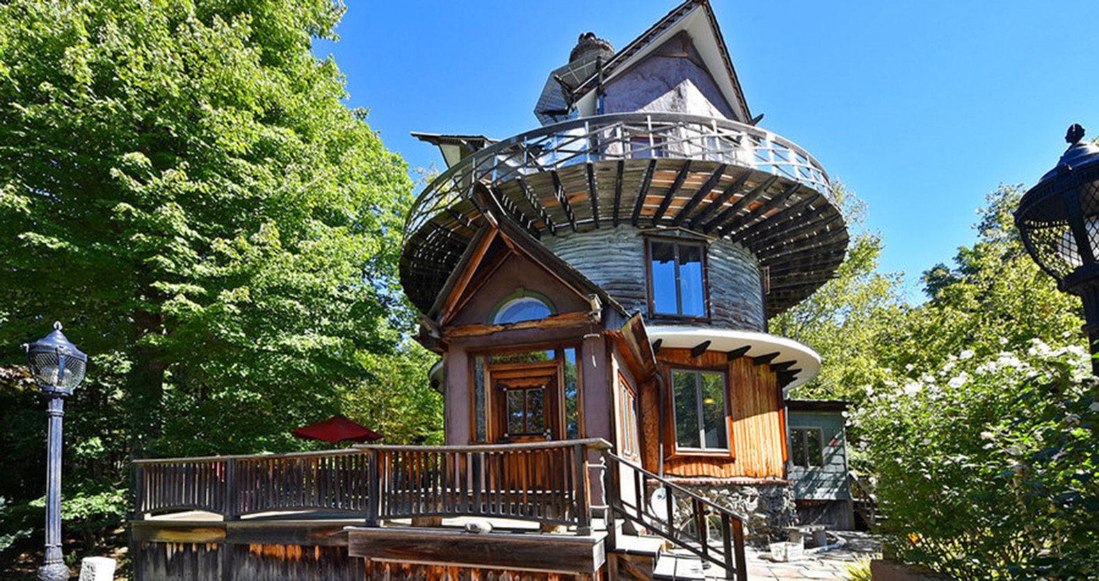 Muppet set designer's Tower House is a psychedelic escape made from repurposed  materials