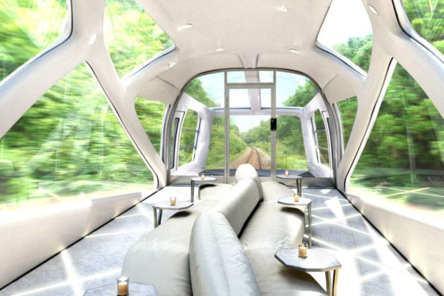 Train Suite Shiki-shima, japanese train design, bullet train japan, japan luxury train, sleeper trains in japan, luxury design, interior design, japanese design, luxury hotels, japanese interior design, East Japan Railway,