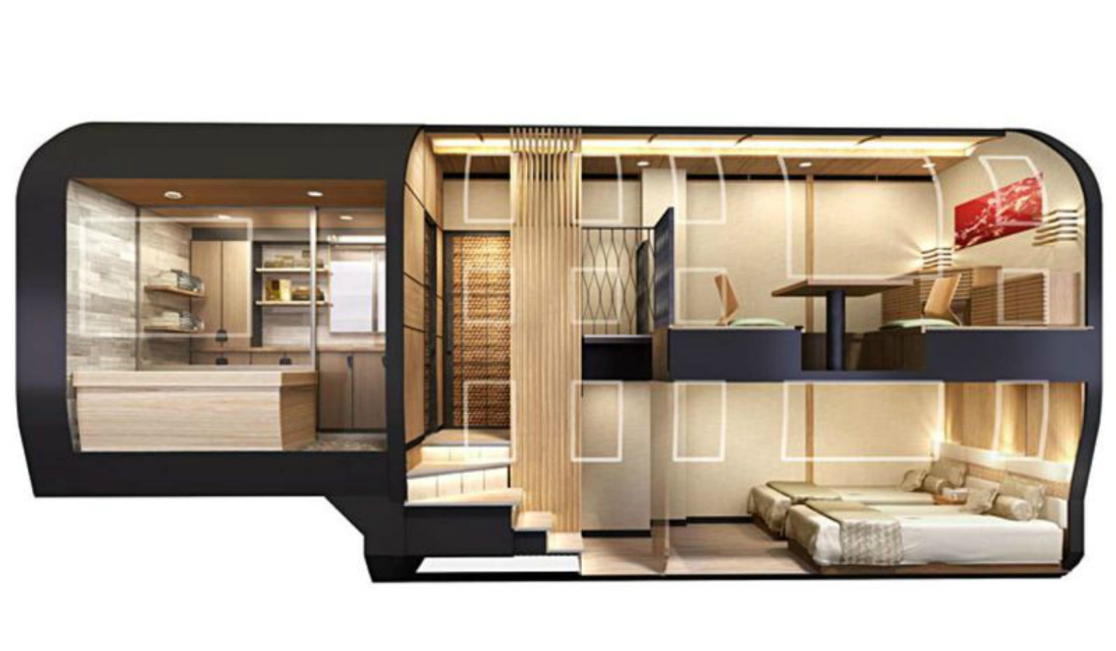 Train Suite Shiki-shima, japanese train design, bullet train japan, japan  luxury