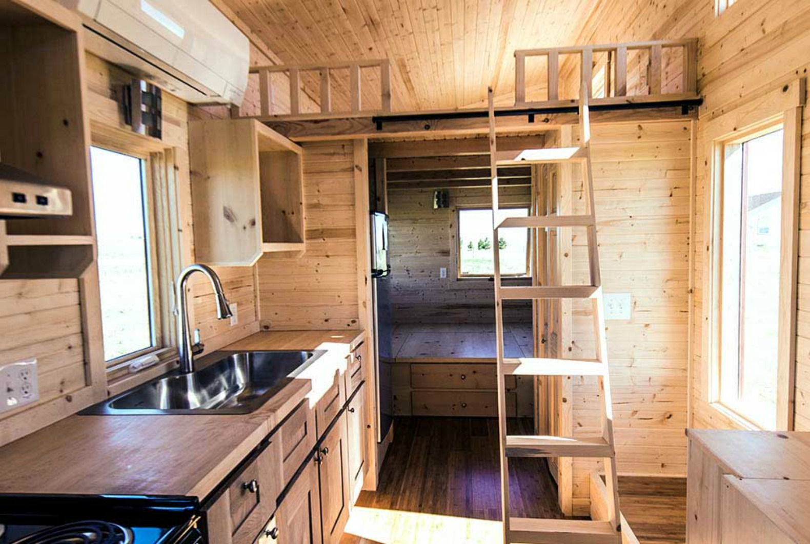 Tiny Home Designs: $63k Tiny Home Manages To Feel Open And Airy In Just 188