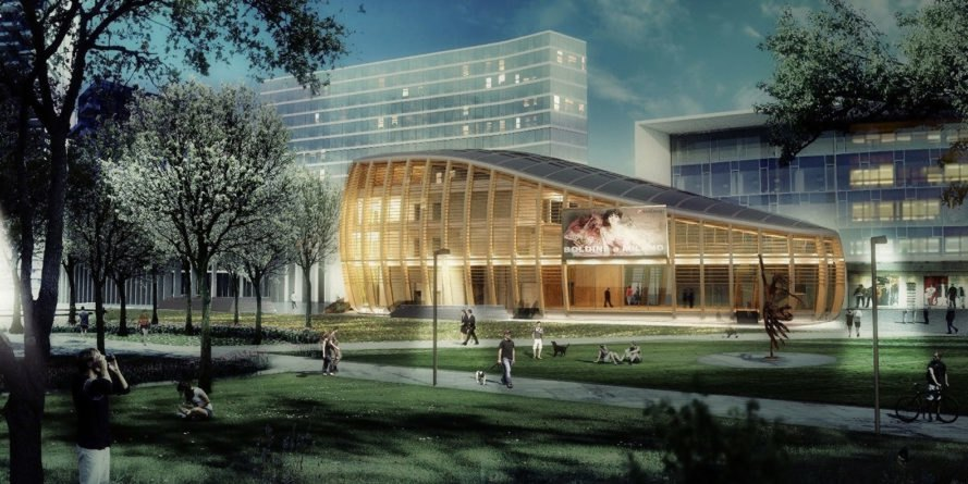 UniCredit Pavilion, aMDL Michele De Lucchi Studio, timber pavilion, Milan, pavilion, solar power, LEED Gold certification, green architecture, mixed-use building, multipurpose auditorium, public spaces, exhibition spaces