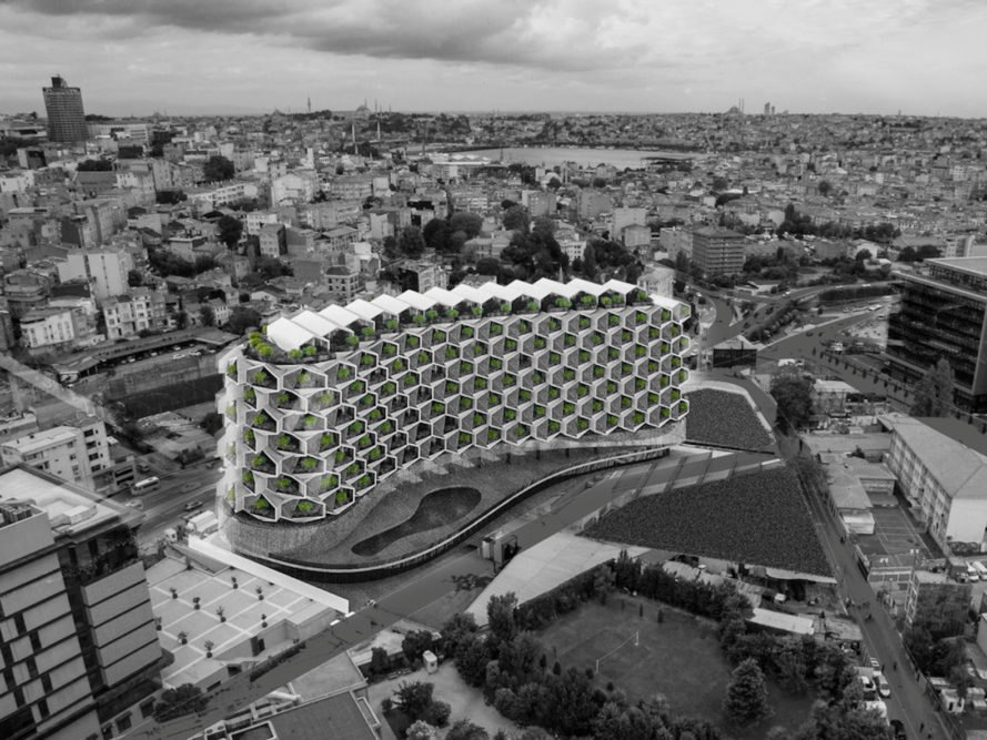 Urban Rural by Eray Carbajo, hexagonal modular unit, modular residential architecture, Istanbul contemporary architecture, modular building in Istanbul, sustainable modular architecture, Istanbul green architecture,