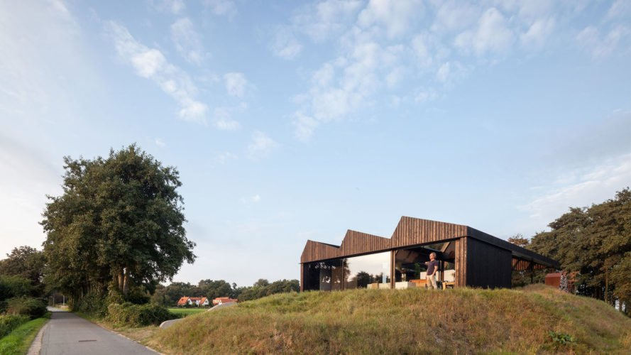 Villa Schoorl by Paul de Ruiter Architects, Villa Schoorl, polder architecure, contemporary architecture in north Holland, north Holland villa, villa in the dunes, rural contemporary Dutch architecture