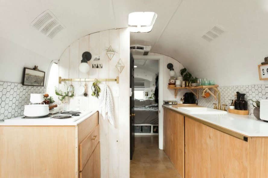 Tin Can Homestead, Vintage Airstream Renovation, 1971 Airstream Sovereign,  Scandinavian Design, Airstream