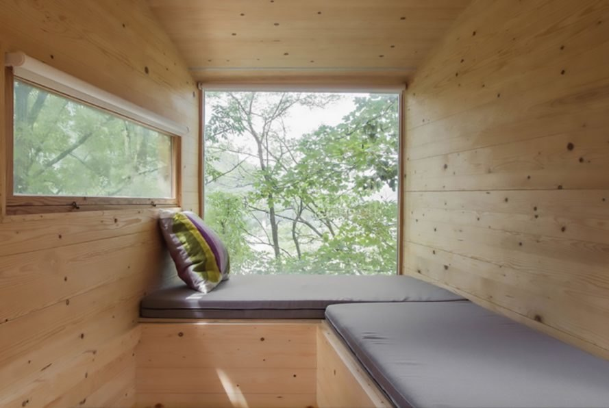 tree cabin, timber cabin, tiny home, cabin design